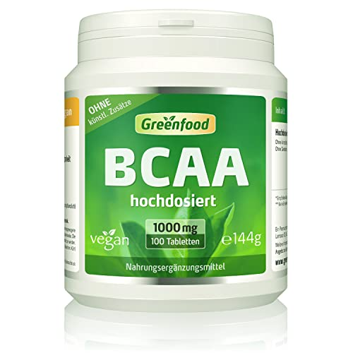 Greenfood BCAA, 1000mg, hochdosiert, 100 Tabletten