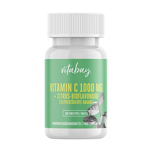 Vitamin C 1000 mg + Bioflavonoide - Time Released - 100 Vegane Tabletten