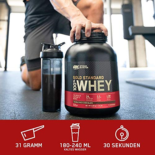 Optimum Nutrition Whey Gold Standard Protein, Double Rich Chocolate, 1er Pack (1 x 2273 g) - 3