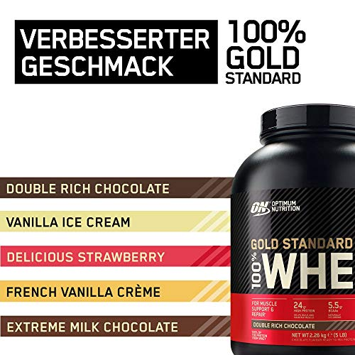 Optimum Nutrition Whey Gold Standard Protein, Double Rich Chocolate, 1er Pack (1 x 2273 g) - 2