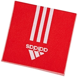 adidas Handtuch Towel S Sporthandtuch Fitness (S (100x50cm), rot-weiß) - 1