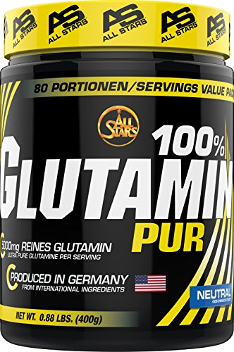 All Stars 100% Glutamin Pur, 1er Pack (1 x 400 g) -