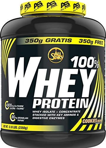 All Stars 100% Whey Protein, Cookies-Cream, 1er Pack (1 x 2350 g) -