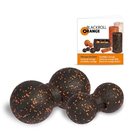 Blackroll Orange (Das Original) DIE Selbstmassagerolle - TwinBALL-orange-Set 8 & 12cm - 1