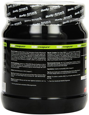 Body Attack Muscle Creatine, 1er Pack (1 x 500 g) -