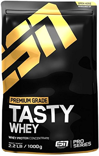 ESN Tasty Whey, Pro Series, Chocolate, 1er Pack (1 x 1000g Beutel) -