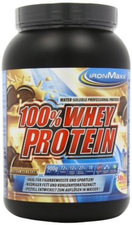 Ironmaxx 100% Whey Protein, Cookies & Cream, 900g -