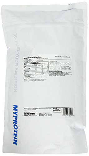 Myprotein Impact Whey Isolate Protein Unflavoured, 1er Pack (1 x 1 kg) -