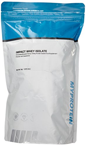 Myprotein Impact Whey Isolate Protein Chocolate Smooth, 1er Pack (1 x 1 kg) -