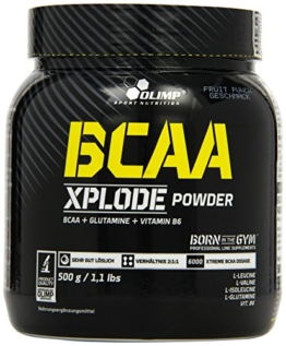 Olimp BCAA Xplode Powder Fruit Punch, 1er Pack (1 x 500 g) -