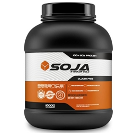 Soja Isolate GOLD - (100% vegan natural Soy Protein, lactosefrei, natuerliches Eiweiss Isolat), by BBGenics Sports Nutrition, 1000g Vanille -