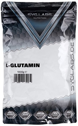SygLabs Nutrition L-Glutamin Pulver, 1er Pack (1 x 1 kg) -