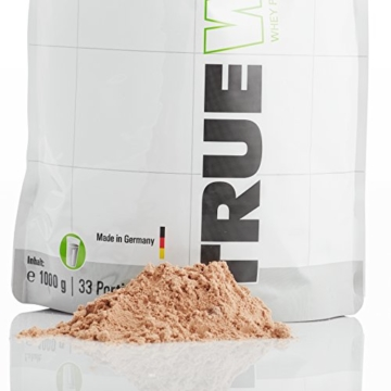 TNT True Whey (CHOCOLATE) - Whey Protein Konzentrat & Whey-Isolat - Post Workout Shake - Hohe Bioverfügbarkeit und hoher Anteil an Aminosäuren - BCAA - Proteinshake zum Muskelaufbau und Abnehemen -1000g Beutel -