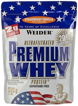 Weider Premium Whey, Strawberry - Vanille, 500 g -